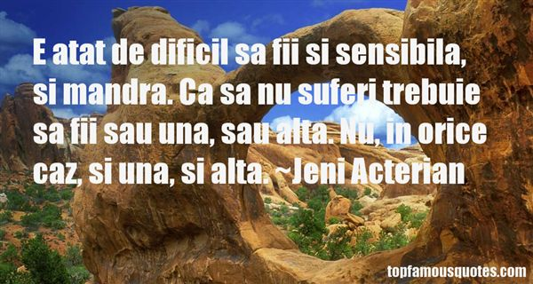 Jeni Acterian Quotes