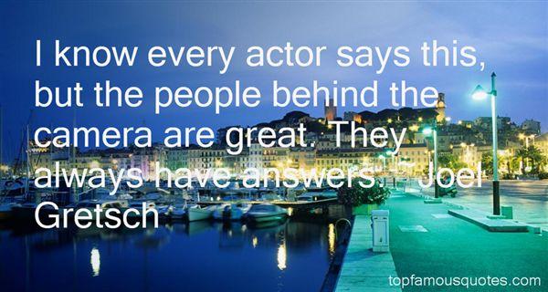 Joel Gretsch Quotes