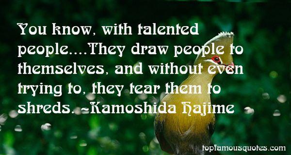 Kamoshida Hajime Quotes