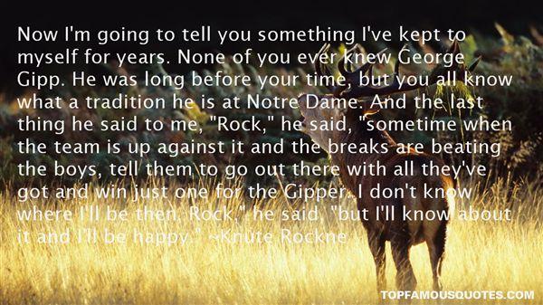 Knute Rockne Quotes