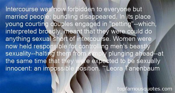 Leora Tanenbaum Quotes