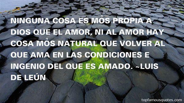 Luis De León Quotes
