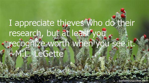 M.L. LeGette Quotes