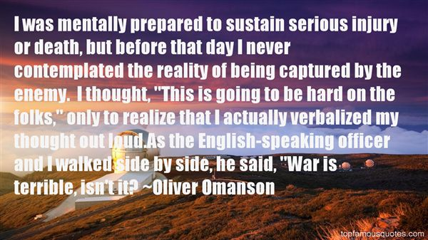 Oliver Omanson Quotes