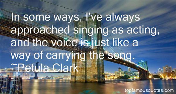 Petula Clark Quotes