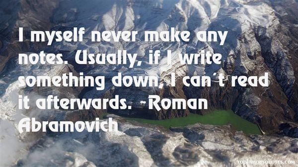 Roman Abramovich Quotes