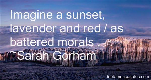 Sarah Gorham Quotes
