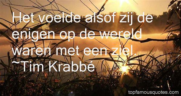 Tim Krabbé Quotes