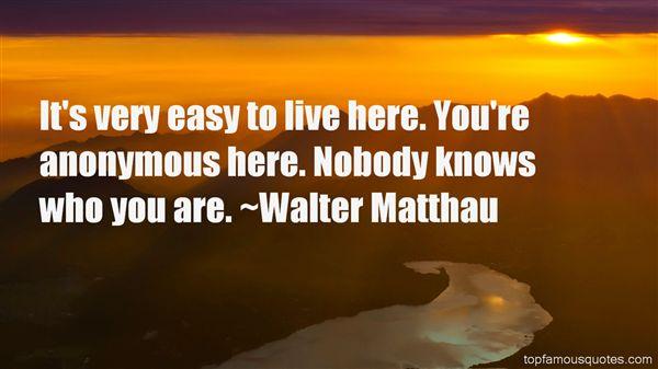 Walter Matthau Quotes
