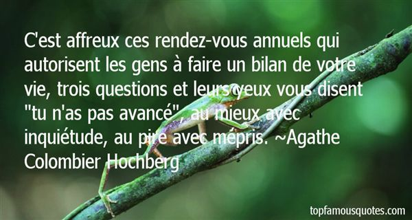 Agathe Colombier Hochberg Quotes