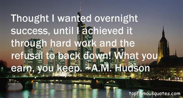 A.M. Hudson Quotes