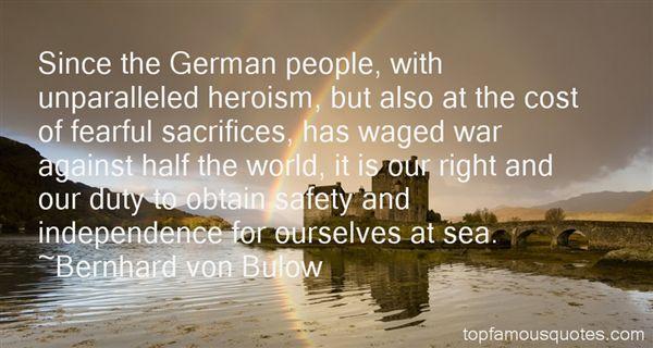 Bernhard Von Bulow Quotes