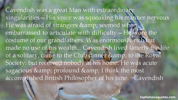 Cavendish Quotes