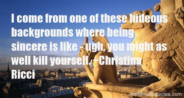 Christina Ricci Quotes