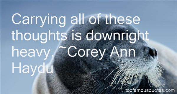 Corey Ann Haydu Quotes