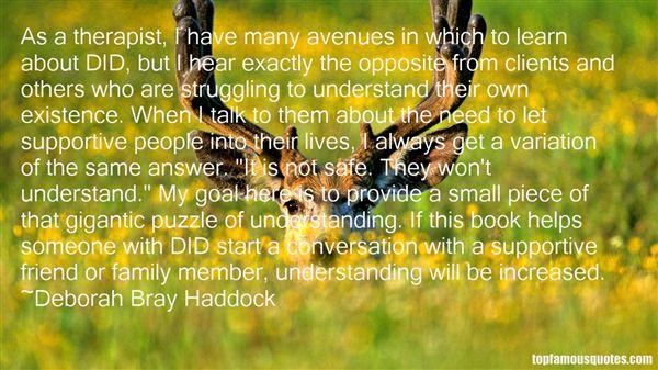 Deborah Bray Haddock Quotes