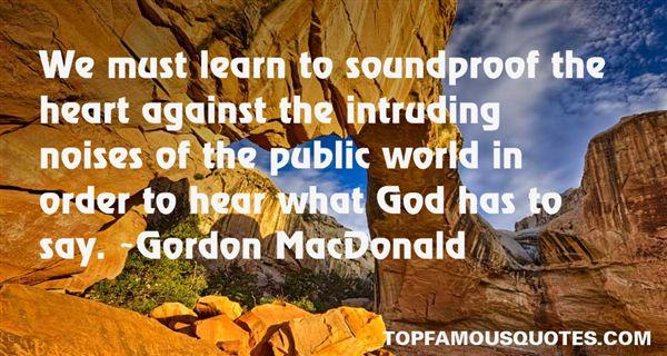 Gordon MacDonald Quotes