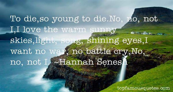 Hannah Senesh Quotes