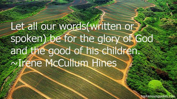 Irene McCullum Hines Quotes