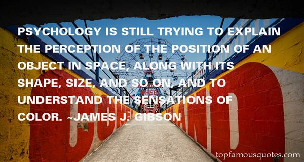 James J. Gibson Quotes