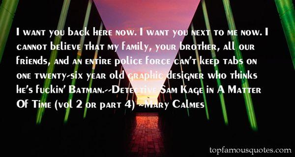 Mary Calmes Quotes