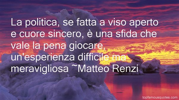Matteo Renzi Quotes