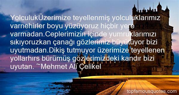 Mehmet Ali Çelikel Quotes