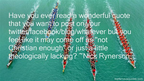 Nick Rynerson Quotes