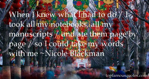 Nicole Blackman Quotes