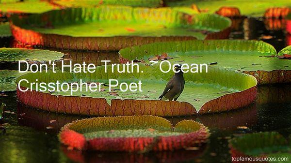 Ocean Crisstopher Poet Quotes