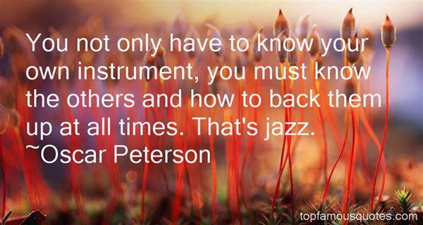 Oscar Peterson Quotes