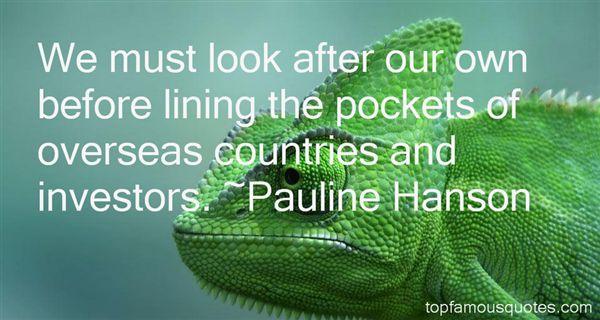 Pauline Hanson Quotes