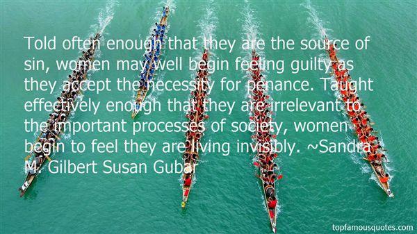 Sandra M. Gilbert Susan Gubar Quotes
