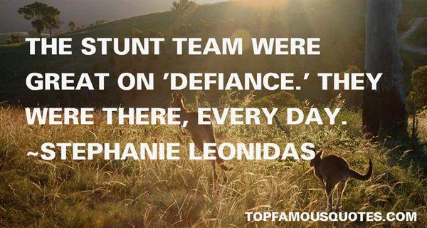 Stephanie Leonidas Quotes