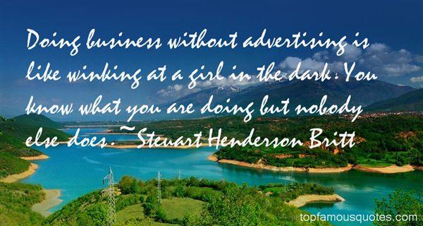 Steuart Henderson Britt Quotes