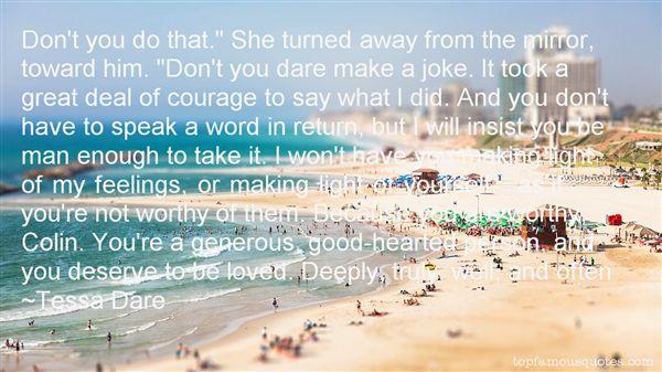 Tessa Dare Quotes