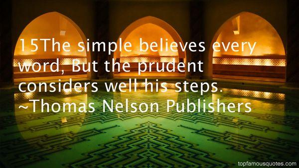 Thomas Nelson Publishers Quotes