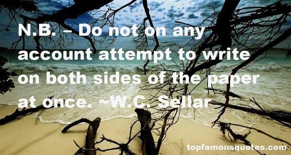 W.C. Sellar Quotes