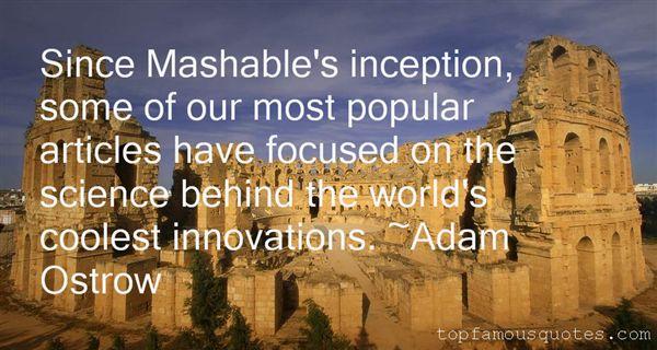 Adam Ostrow Quotes