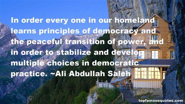 Ali Abdullah Saleh Quotes