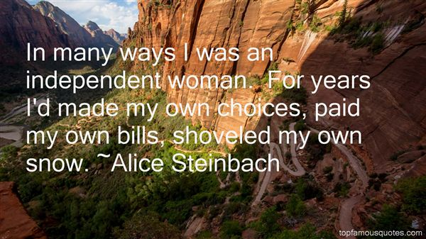 Alice Steinbach Quotes