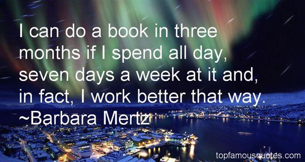 Barbara Mertz Quotes