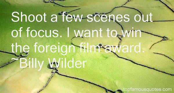 Billy Wilder Quotes
