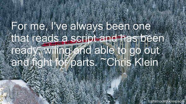 Chris Klein Quotes
