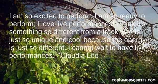 Claudia Lee Quotes