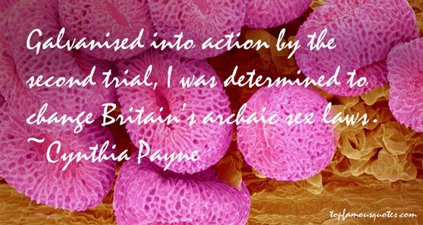 Cynthia Payne Quotes