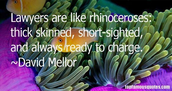 David Mellor Quotes