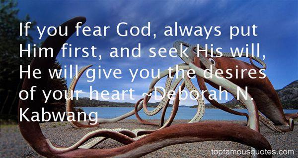 Deborah N. Kabwang Quotes