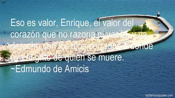 Edmundo De Amicis Quotes
