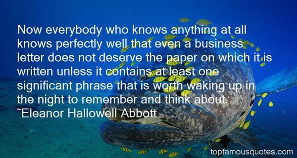 Eleanor Hallowell Abbott Quotes
